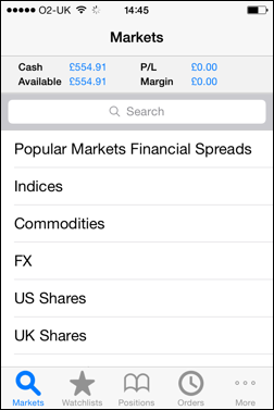 Financial Spreads Markets - Mobile and Tablet Trading Apps